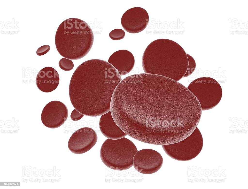 Blood cells royalty-free stock photo