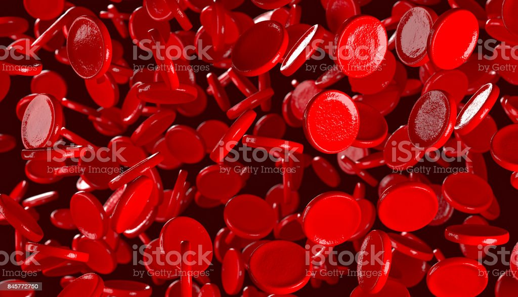 3D blood cells stock photo