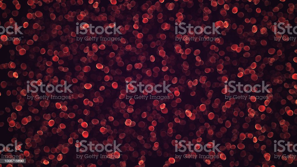 blood cells traveling through a vein. stock photo