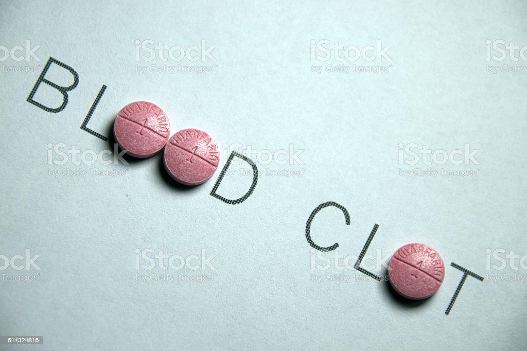 Blood Clot and Warfarin stock photo