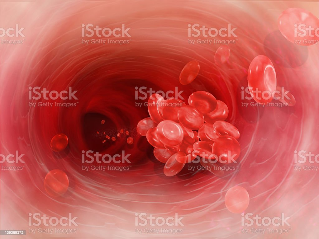Blood Clot Cell Artery stock photo