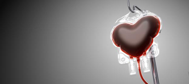 Blood donation concept. 3D Render