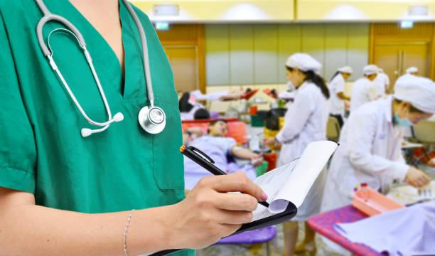 blood donation in hospital - china drug foto e immagini stock