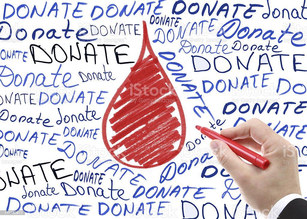 Blood donation stock photo