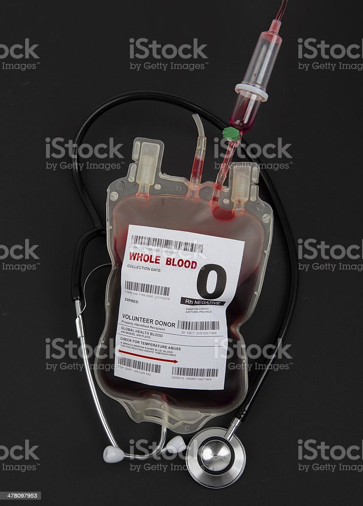 Blood donor  with medical stethoscope royalty-free stock photo