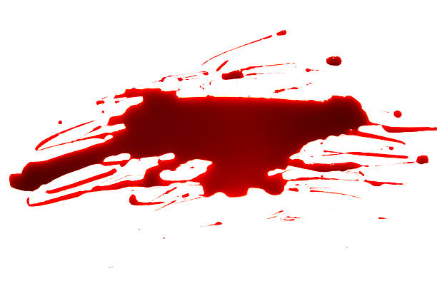 Blood dripping on white background – Foto