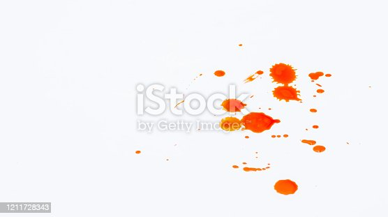 535193210 istock photo Blood dripping set stains 1211728343