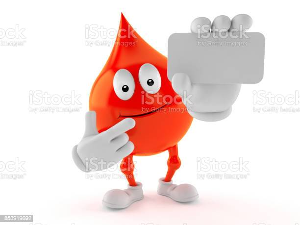 Blood drop character holding blank business card picture id853919692?b=1&k=6&m=853919692&s=612x612&h=cguztb8ylylve2jo63wzyg8gopmdtd2tk xytg7re9q=