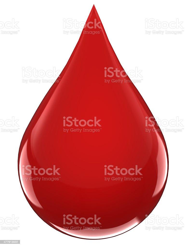 Goccia di sangue - foto stock