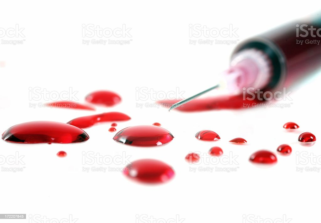 blood drops royalty-free stock photo