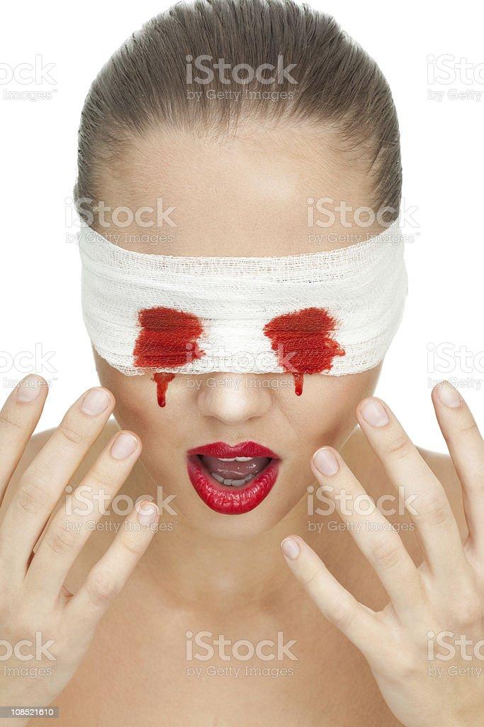 Blood eyewater stock photo