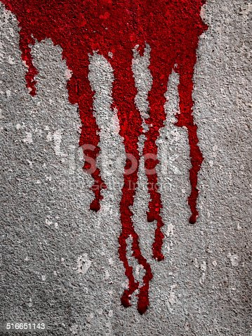 535193210 istock photo Blood flow on wall 516651143