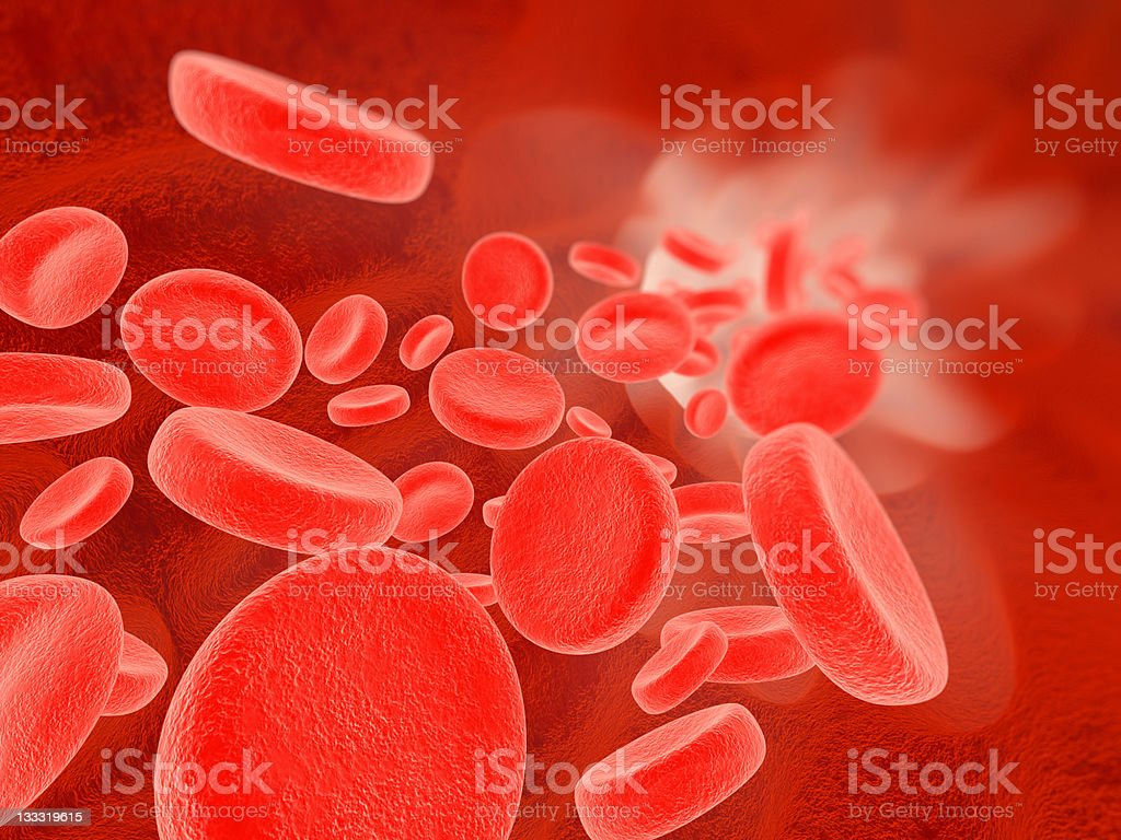 Blood flow royalty-free stock photo