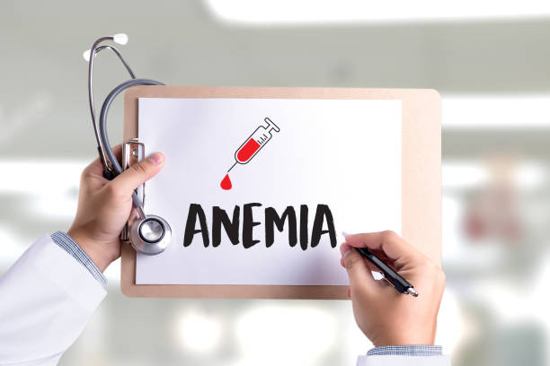 anemia blood for test , medical concept , diagnosis iron deficiency doctor hand working professional , aplastic anemia - anemia foto e immagini stock