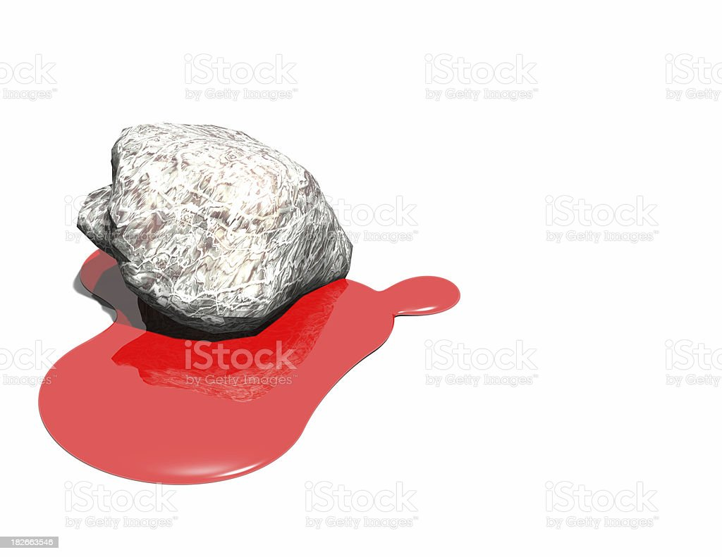 Blood from a stone royalty-free stock photo