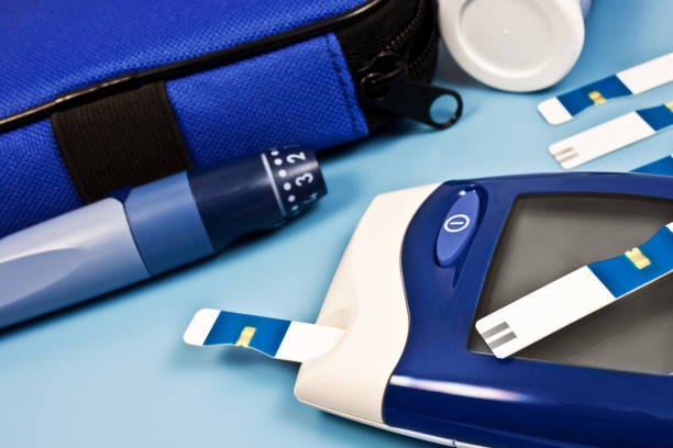 Blood glucose meter medical equipment Blood glucose meter medical equipment background lancet arch stock pictures, royalty-free photos & images