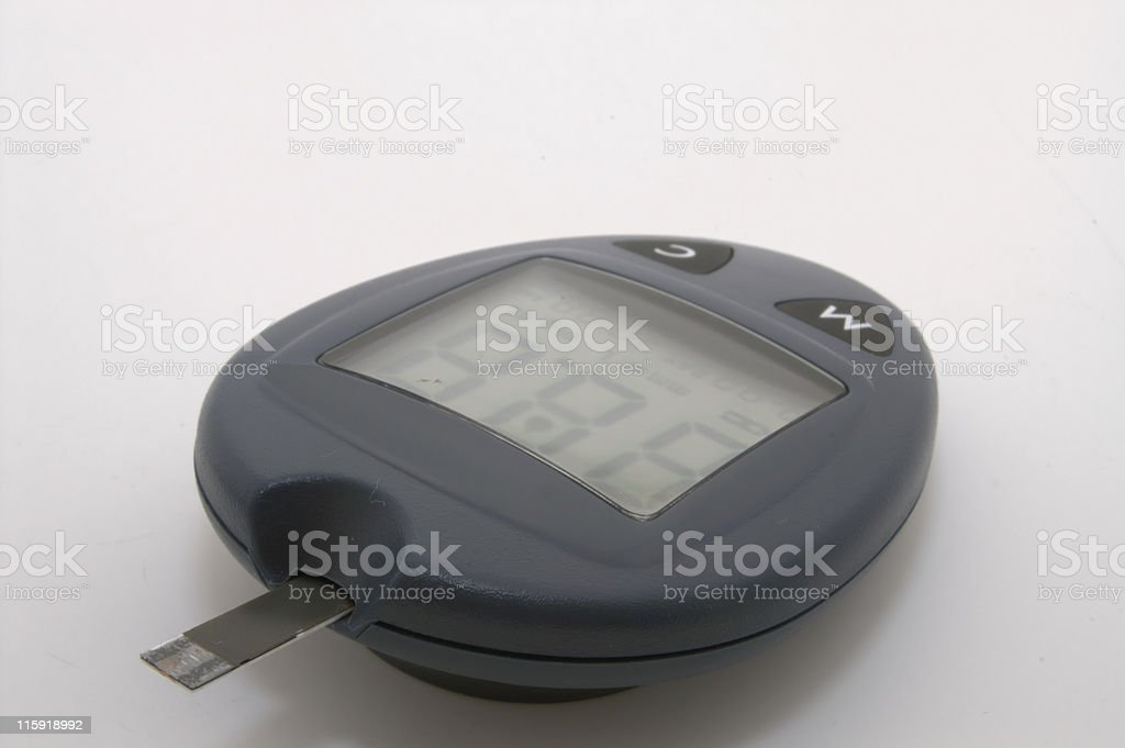 Blood Glucose Meter royalty-free stock photo