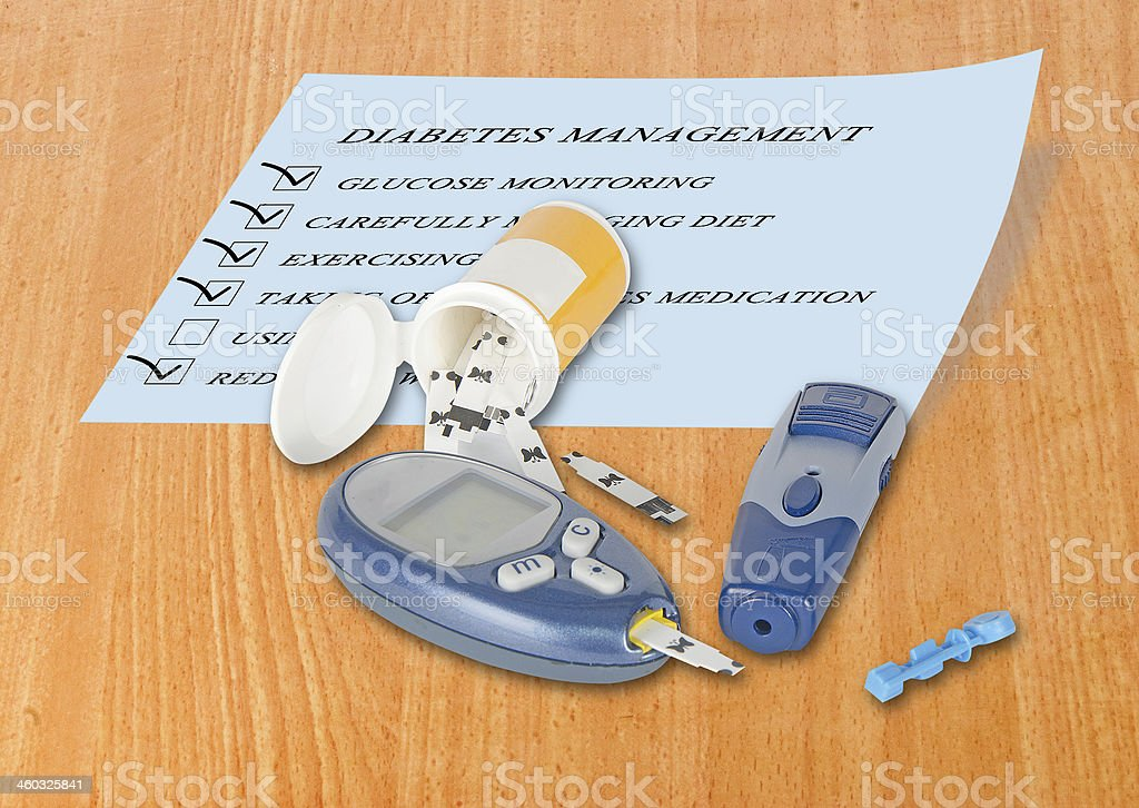 Blood glucose monitor stock photo