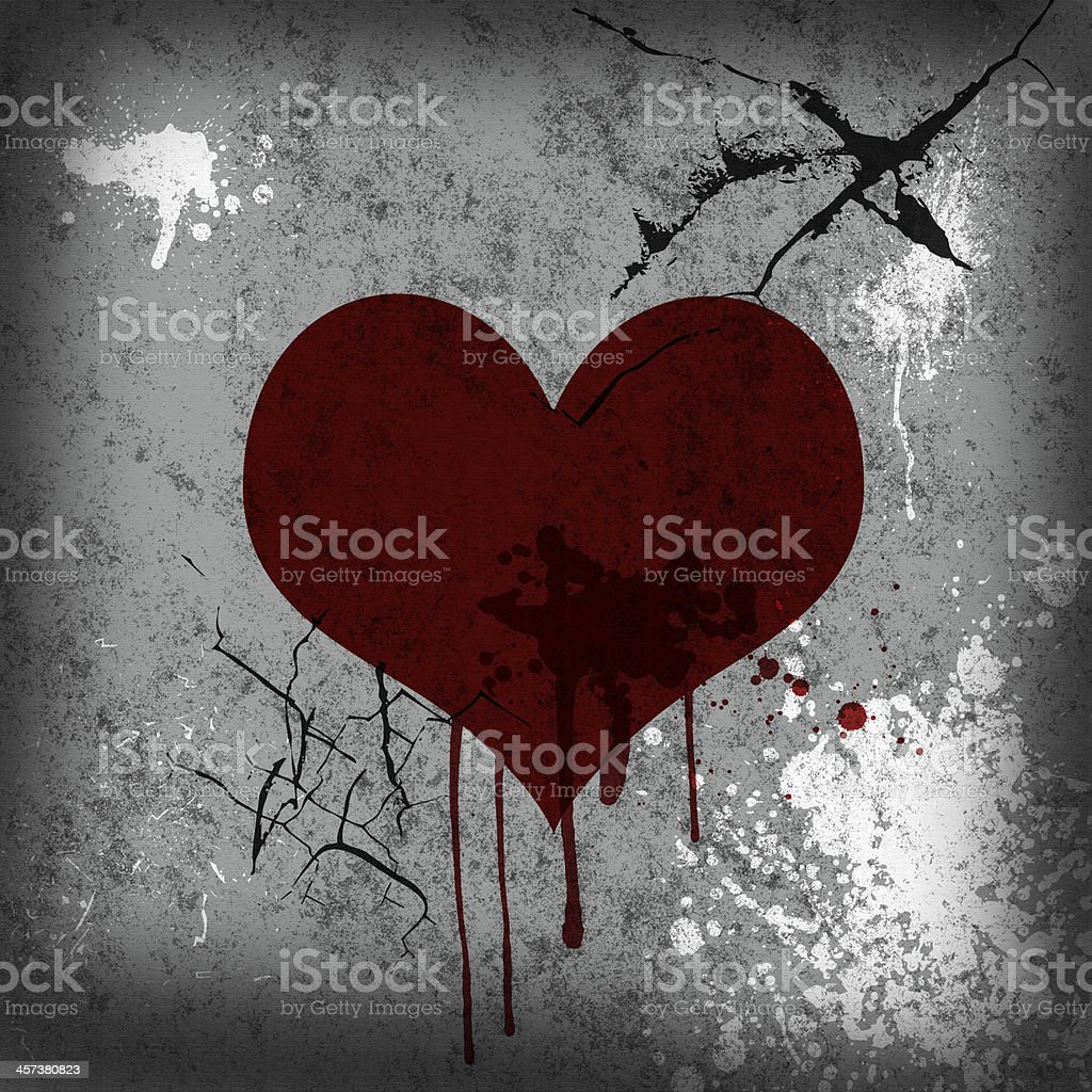 Blood Grunge Valentine's Day Background stock photo