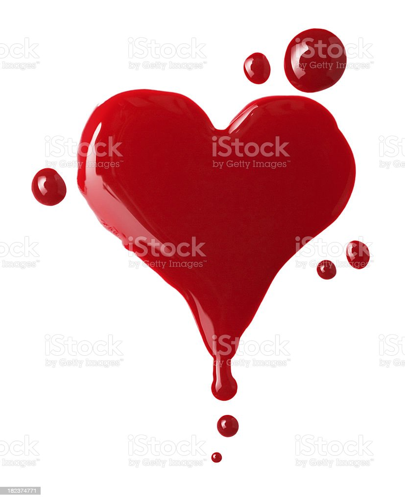blood heart stock photo
