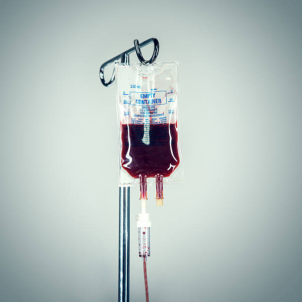 Blut in Infusion im Krankenhaus – Foto