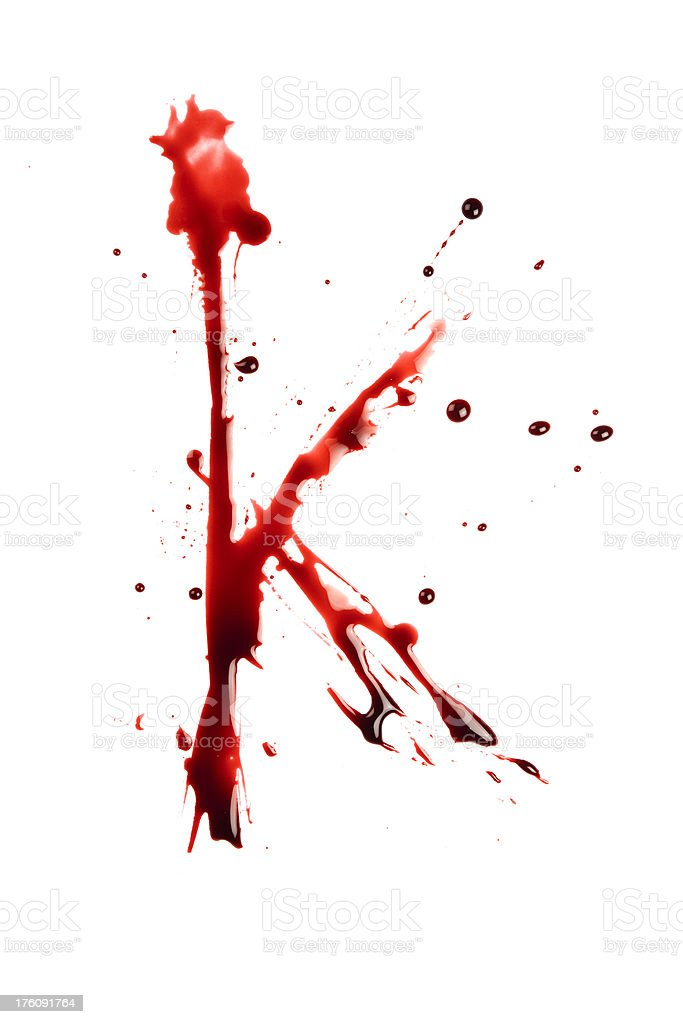 Blood Letter K Wet Lowercase Stock Photo Amp More Pictures