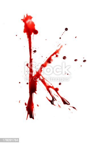 blood letter k wet lowercase stock photo  u0026 more pictures