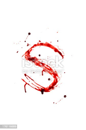 istock Blood Letter S Wet Lowercase 176116689