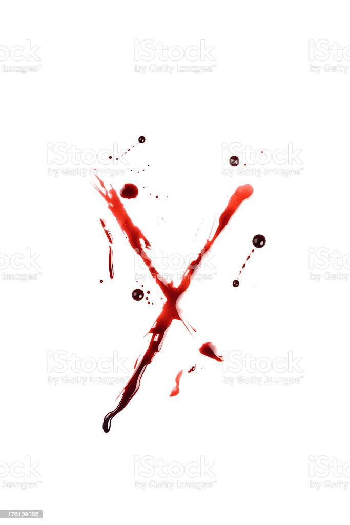 Blood Letter Y Wet Lowercase royalty-free stock photo