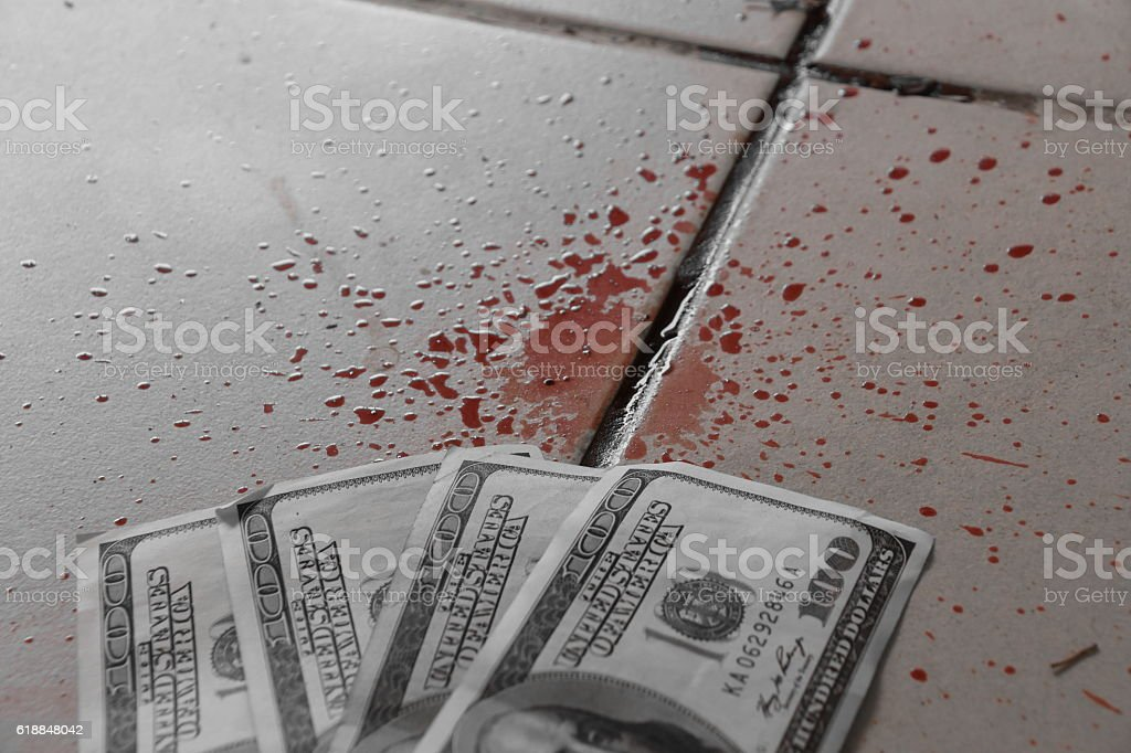 Blood Money Concept stock photo