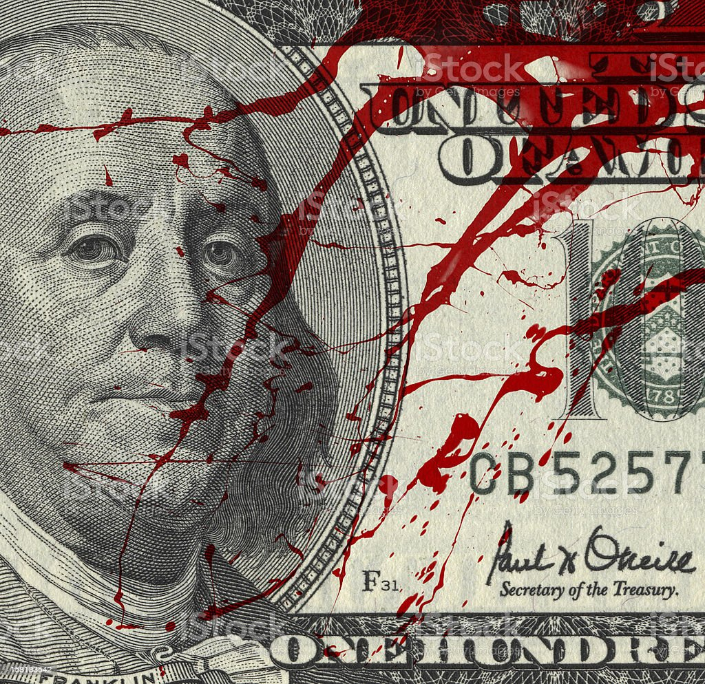 Blood Money stock photo