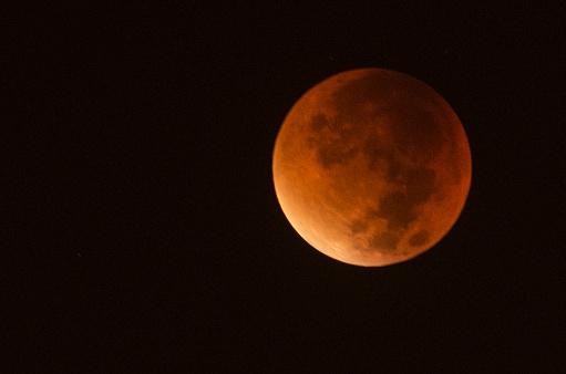 Blood moon, full lunar eclipse, Turkey, 2015