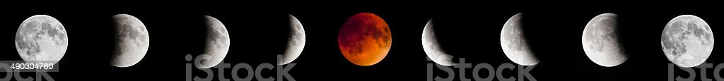 Blut moon Mondfinsternis 2015, full moon, mit Supermond – Foto