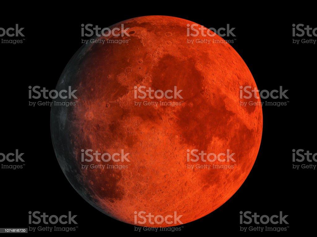 Bloed maan foto