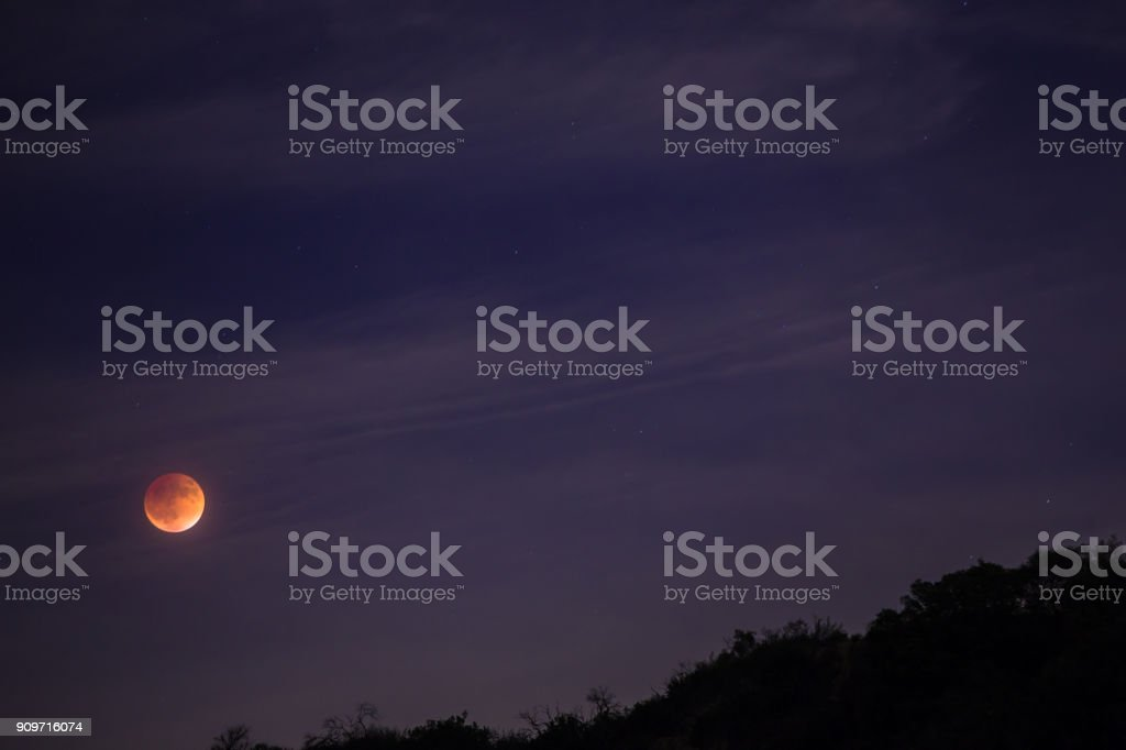 Blood Moon Rising stock photo
