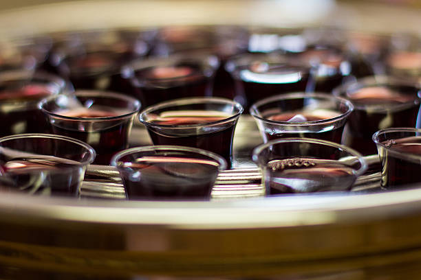 blood of the lamb - communion stock photos and pictures
