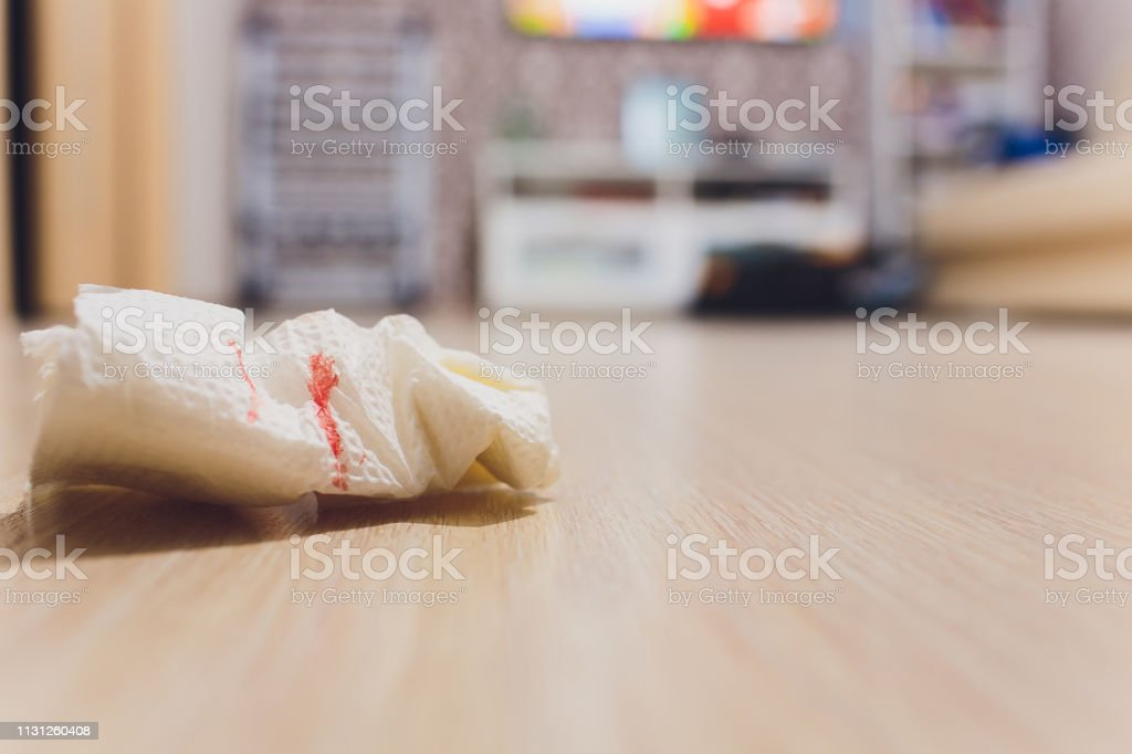 Blood of woman with period, Period of woman, Menstrual blood on...
