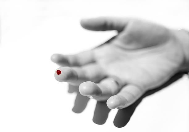 Blood on a finger