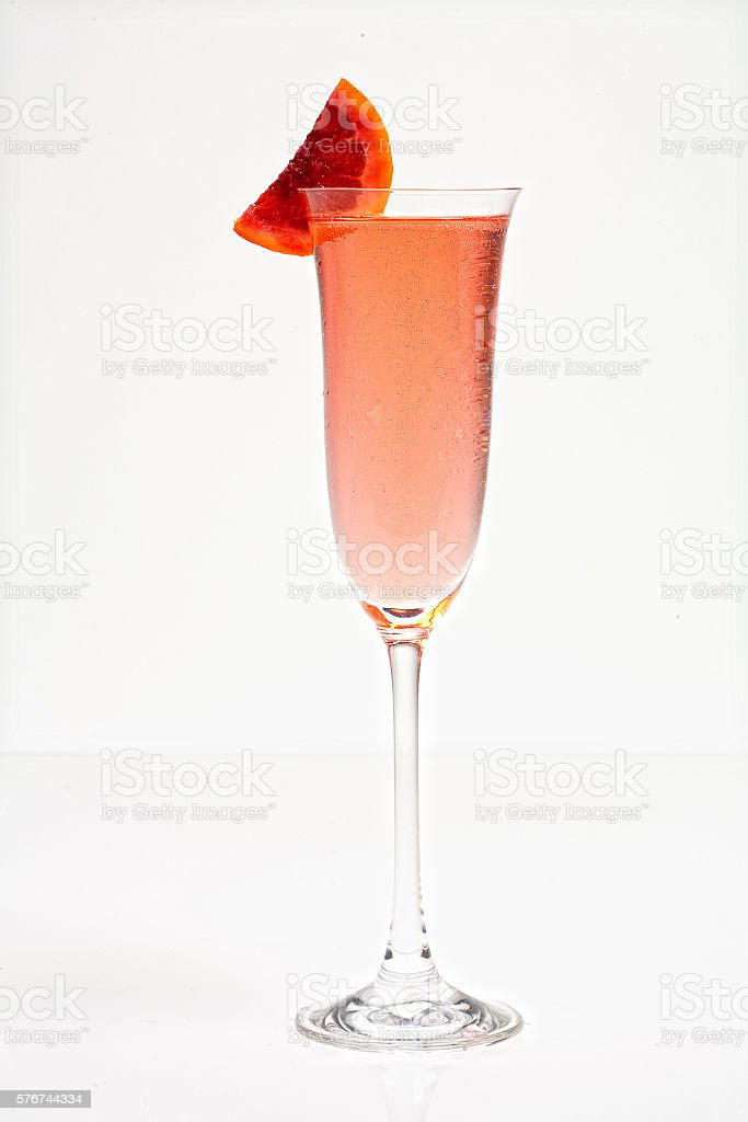 Blood Orange Mimosa stock photo