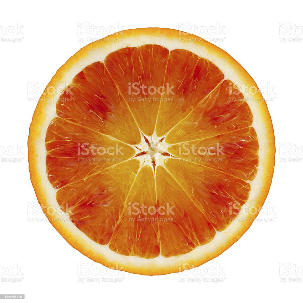 Blood orange portion on white stock photo