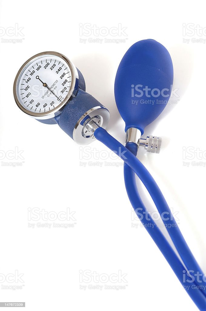 Blood Preasure Monitor on White stock photo