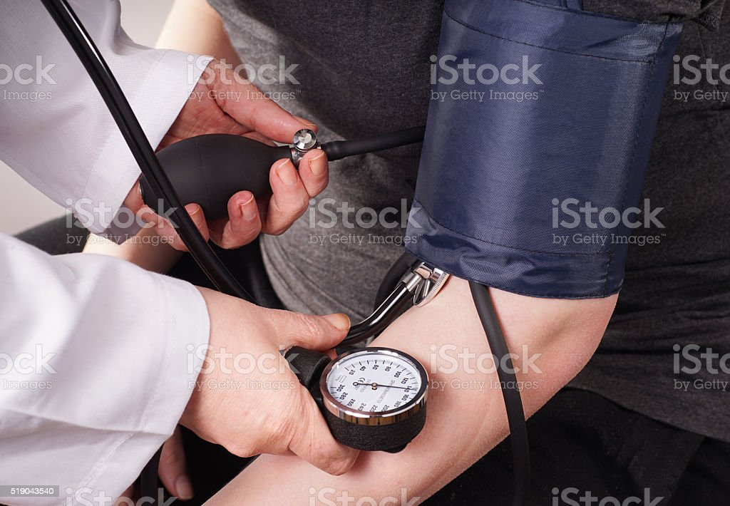 Blood pressure check up stock photo
