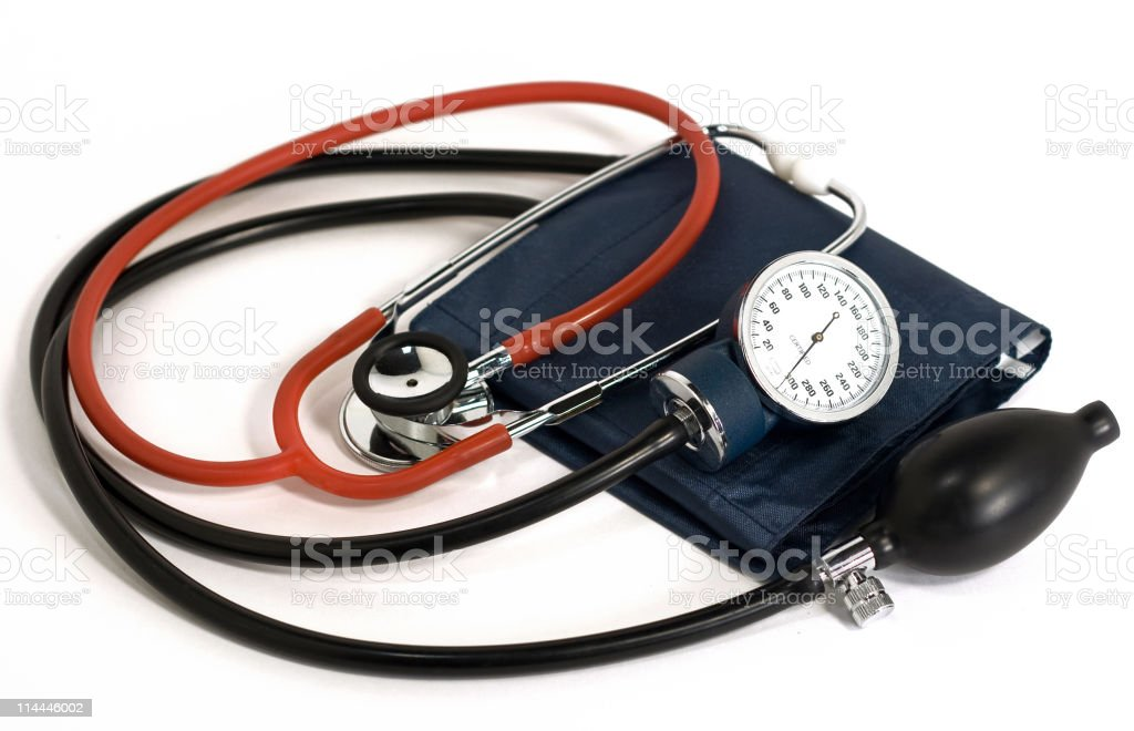 Blood Pressure Cuff and Stethoscope royalty-free stock photo