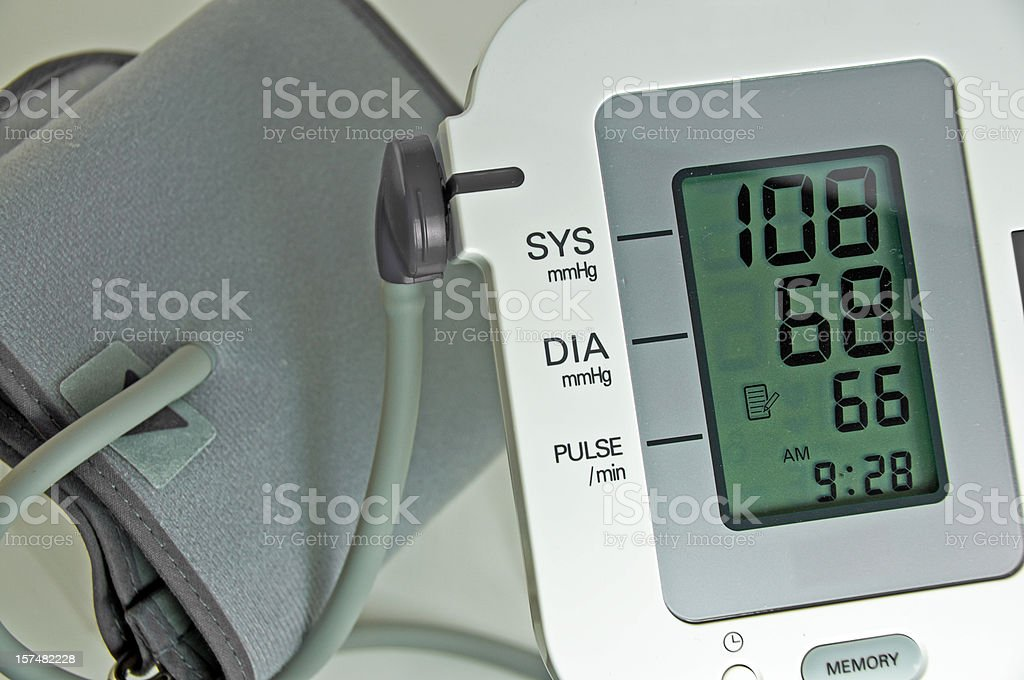 Blood Pressure  Electric Sphygmomanometer royalty-free stock photo