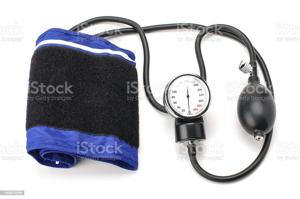 Blood pressure equipment isolated on the white background stock photo