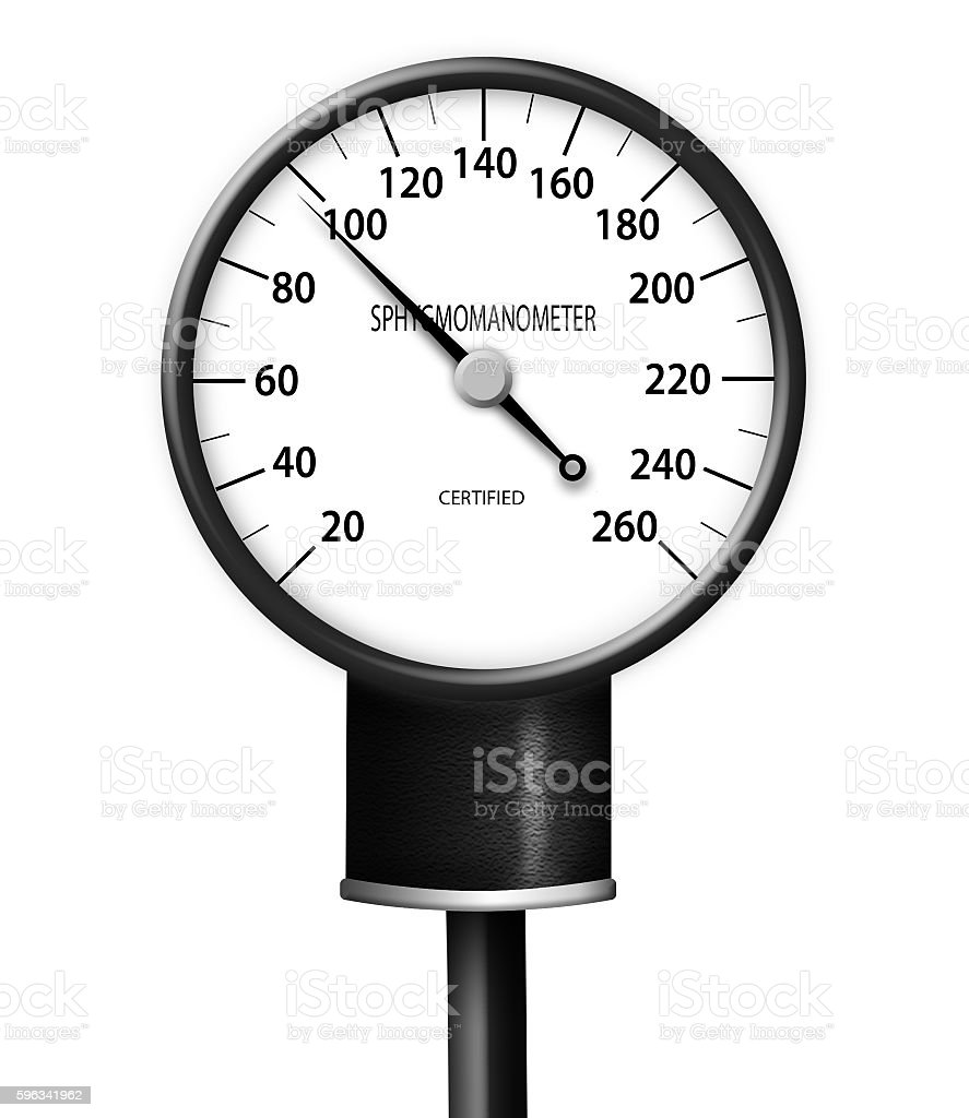 Blood pressure gauge isolated royalty-free stock photo
