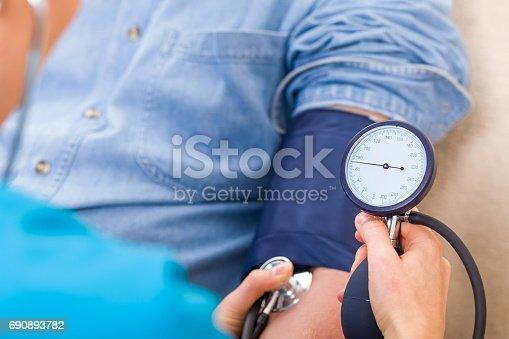 istock Blood pressure measurement 690893782