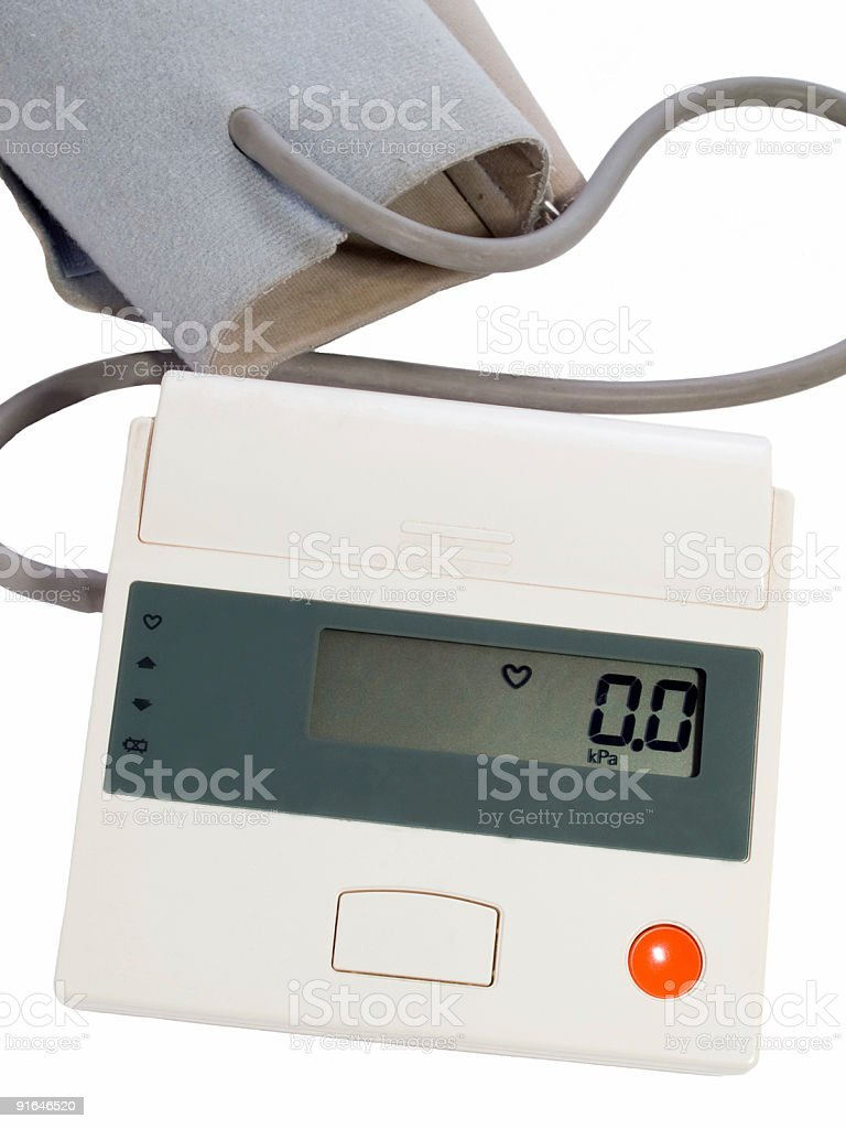 blood pressure measuring instrument - automatic tonometer royalty-free stock photo