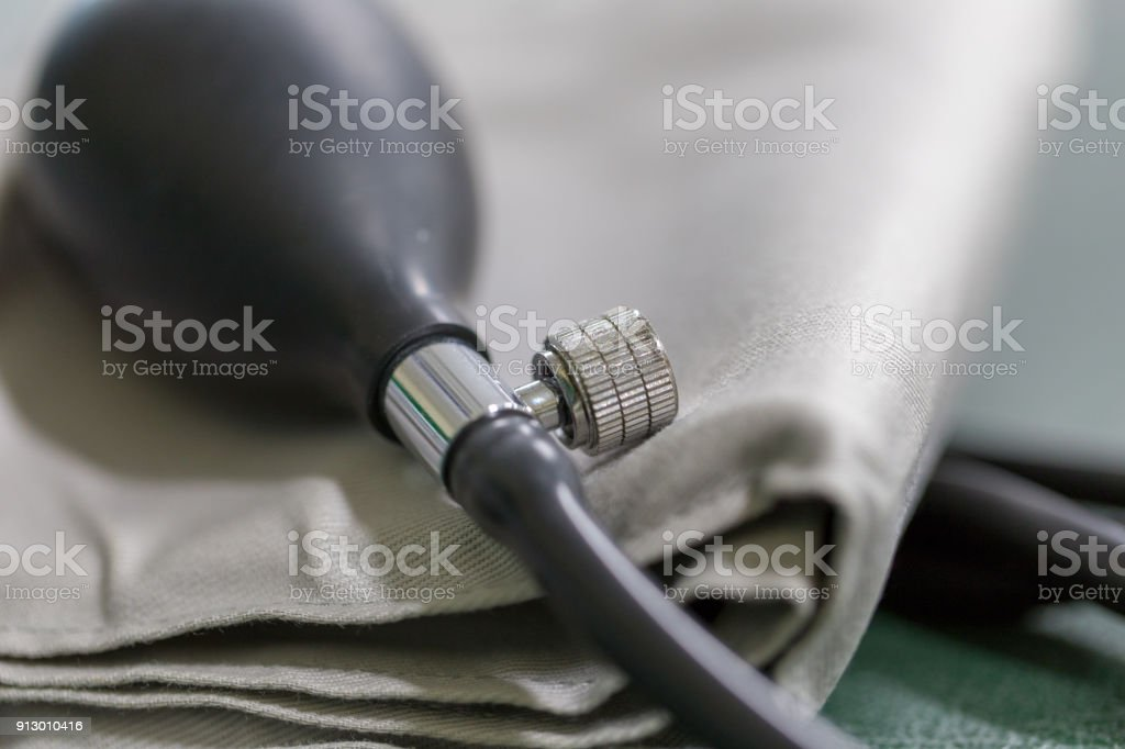 Blood pressure meter medical equipment  for classroom education. stock photo