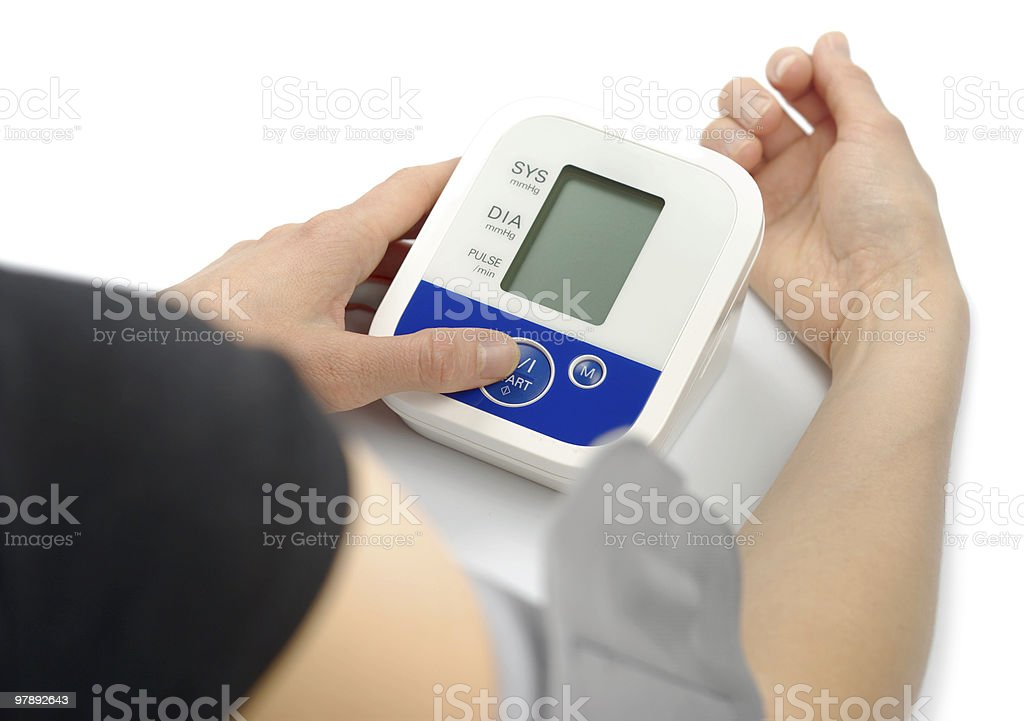 Blood Pressure Metering royalty-free stock photo